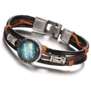 Zoho Zodiac Leather Bracelet